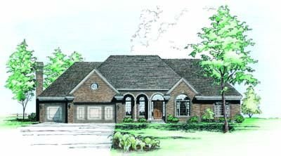 Traditional Exterior - Front Elevation Plan #20-906