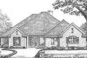 European Style House Plan - 4 Beds 3 Baths 2193 Sq/Ft Plan #310-355 Exterior - Front Elevation