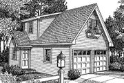 Traditional Style House Plan - 0 Beds 1 Baths 414 Sq/Ft Plan #41-101