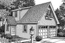 Home Plan - Traditional Exterior - Front Elevation Plan #41-101