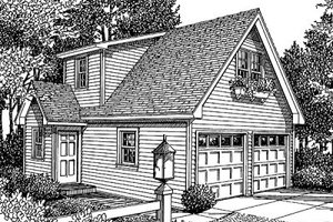 Home Plan Design - Traditional Exterior - Front Elevation Plan #41-101