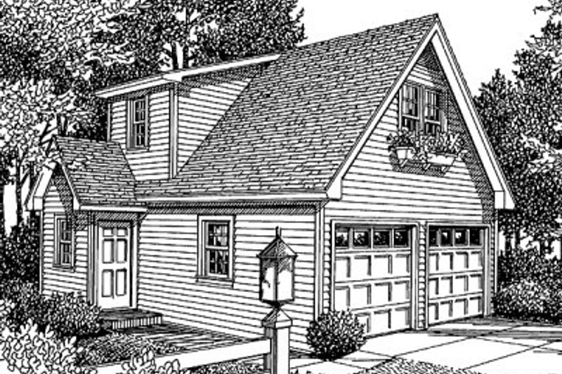 Traditional Style House Plan - 0 Beds 1 Baths 414 Sq/Ft Plan #41-101 Exterior - Front Elevation