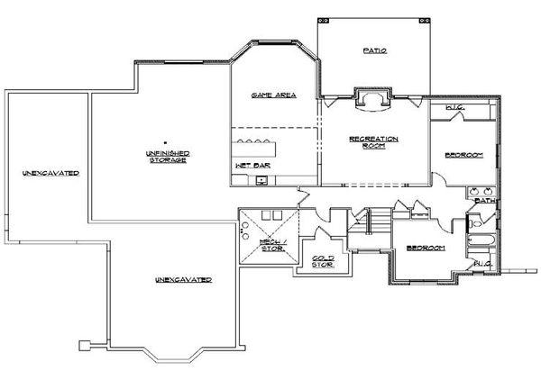 Home Plan - European Floor Plan - Lower Floor Plan #5-313