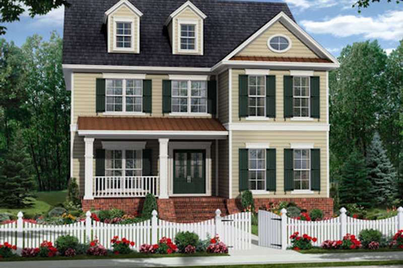 Traditional Exterior - Front Elevation Plan #21-322 - Houseplans.com