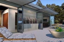 Modern Exterior - Covered Porch Plan #484-4