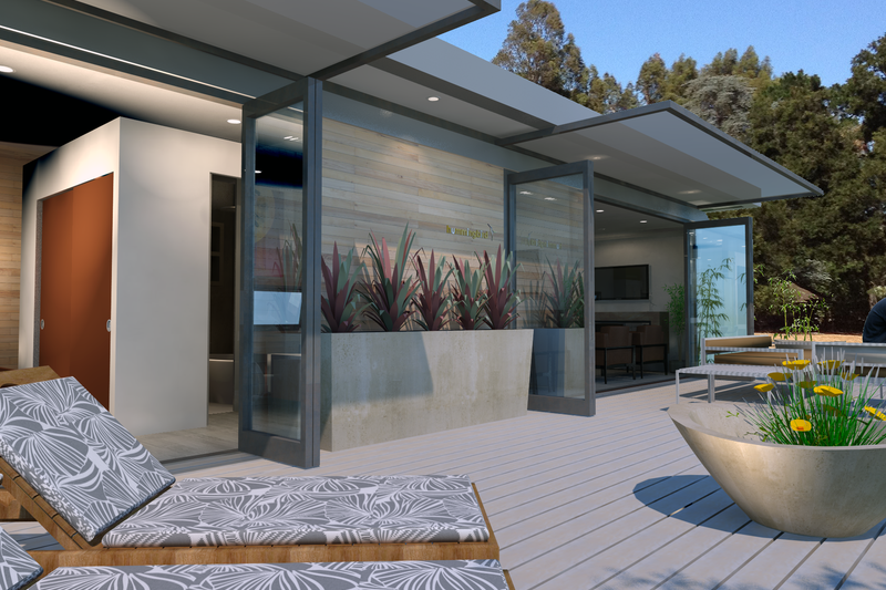 House Design - Modern Exterior - Covered Porch Plan #484-4