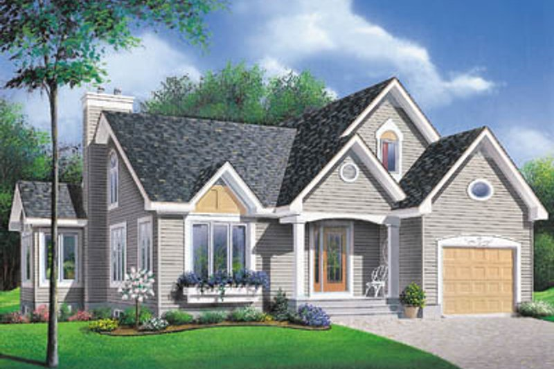 Traditional Exterior - Front Elevation Plan #23-134