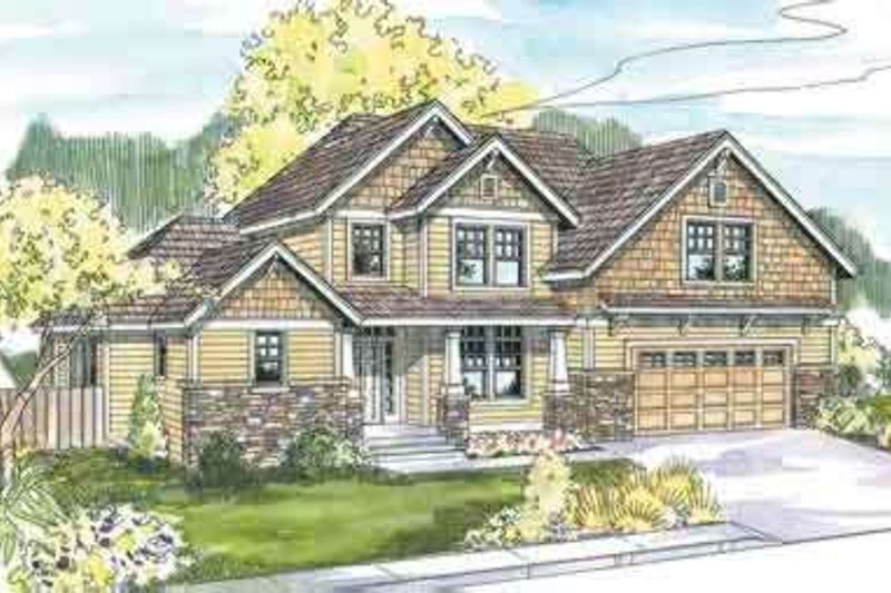 Craftsman Exterior - Front Elevation Plan #124-567