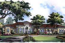 House Plan Design - European Exterior - Front Elevation Plan #417-438