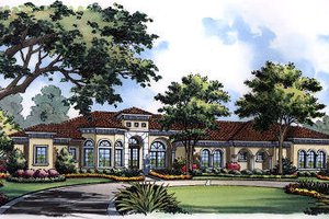 European Exterior - Front Elevation Plan #417-438