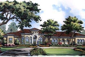 Dream House Plan - European Exterior - Front Elevation Plan #417-438