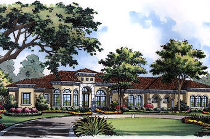Home Plan - European Exterior - Front Elevation Plan #417-438