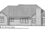 Traditional Style House Plan - 3 Beds 2.5 Baths 2111 Sq/Ft Plan #70-304 Exterior - Rear Elevation