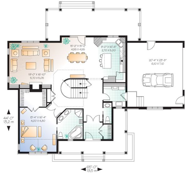 House Plan Design - Canadian house plan traditional style  craftsman home