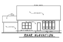 Dream House Plan - Ranch Exterior - Rear Elevation Plan #20-2331