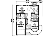 Victorian Style House Plan - 4 Beds 1 Baths 1787 Sq/Ft Plan #25-4689 Floor Plan - Main Floor Plan