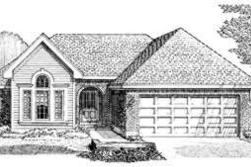 European Exterior - Front Elevation Plan #410-342