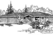 Ranch Style House Plan - 5 Beds 2 Baths 1715 Sq/Ft Plan #60-497 Exterior - Front Elevation