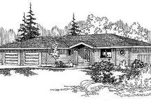 House Plan Design - Ranch Exterior - Front Elevation Plan #60-497