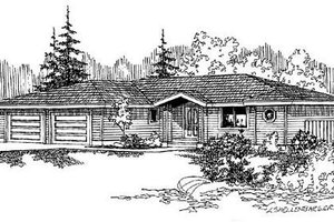 Home Plan Design - Ranch Exterior - Front Elevation Plan #60-497