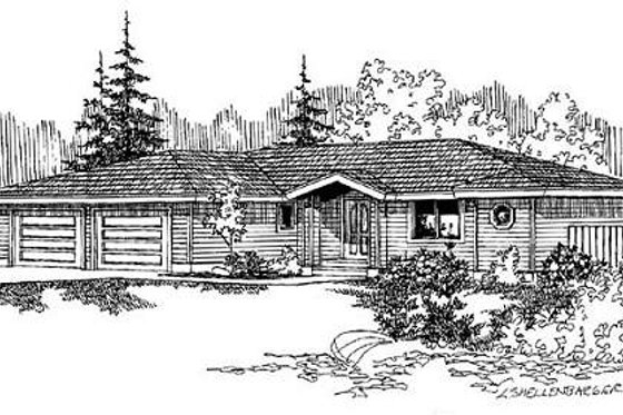 Ranch Exterior - Front Elevation Plan #60-497