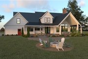 Farmhouse Style House Plan - 4 Beds 2.5 Baths 2878 Sq/Ft Plan #1070-19 Exterior - Rear Elevation