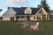 Farmhouse Exterior - Rear Elevation Plan #1070-19