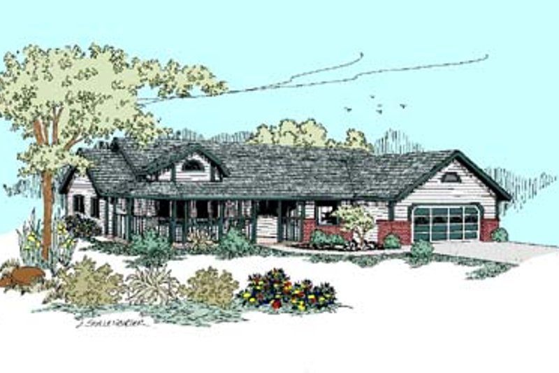 Traditional Exterior - Front Elevation Plan #60-502