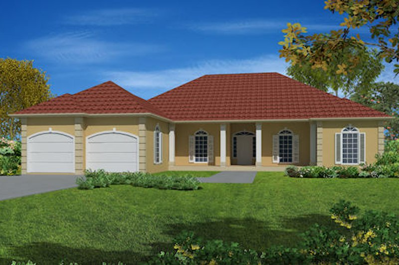 Southern Exterior - Front Elevation Plan #437-17