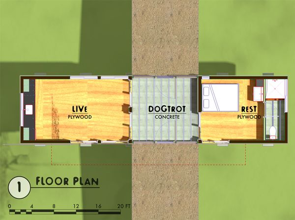 Modern Floor Plan - Main Floor Plan Plan #450-3