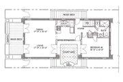 Mediterranean Style House Plan - 4 Beds 4 Baths 2831 Sq/Ft Plan #536-6 Floor Plan - Main Floor