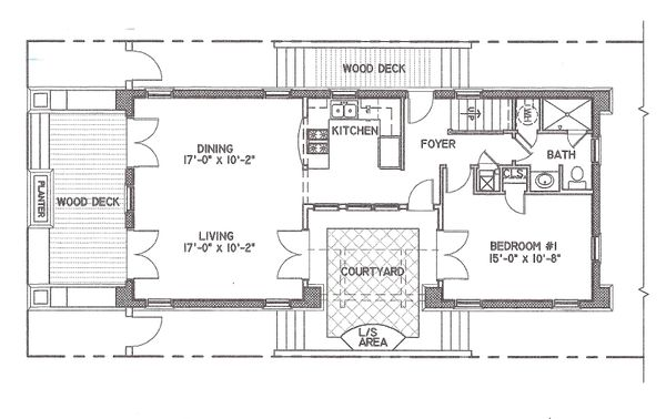 Mediterranean Floor Plan - Main Floor Plan Plan #536-6