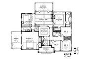 Craftsman Style House Plan - 3 Beds 2 Baths 2212 Sq/Ft Plan #487-1 Floor Plan - Main Floor