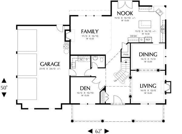 Country Floor Plan - Main Floor Plan Plan #48-183