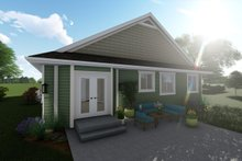 Ranch Exterior - Rear Elevation Plan #1060-40