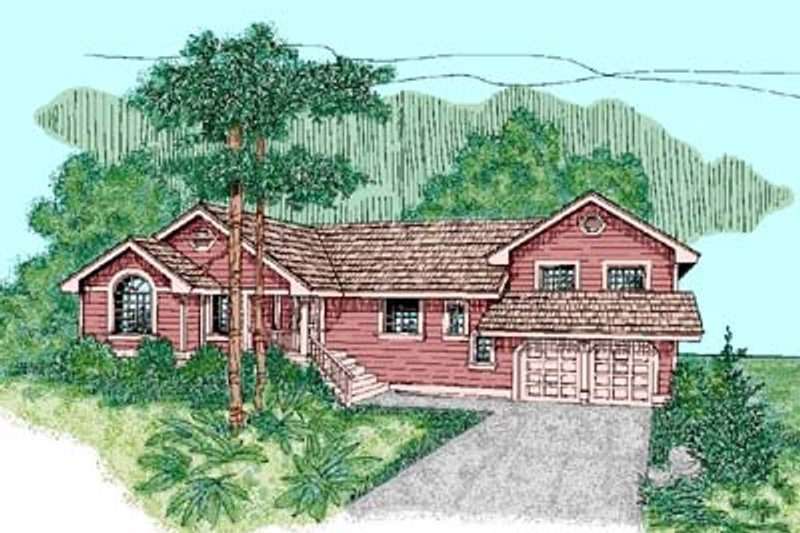 Traditional Exterior - Front Elevation Plan #60-450 - Houseplans.com