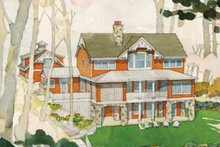 House Plan Design - Craftsman Exterior - Rear Elevation Plan #928-64