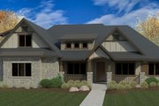 Craftsman Style House Plan - 3 Beds 3 Baths 3086 Sq/Ft Plan #920-103 Exterior - Front Elevation