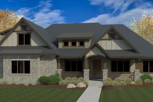 Craftsman Exterior - Front Elevation Plan #920-103