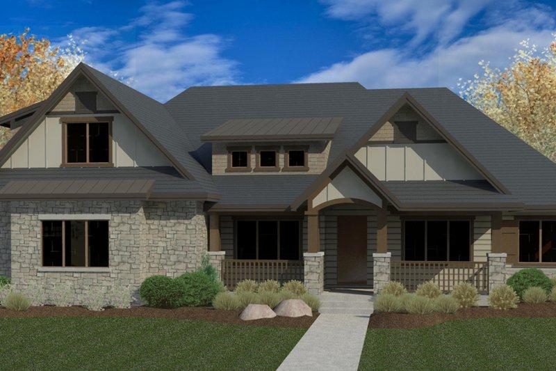 Craftsman Exterior - Front Elevation Plan #920-103