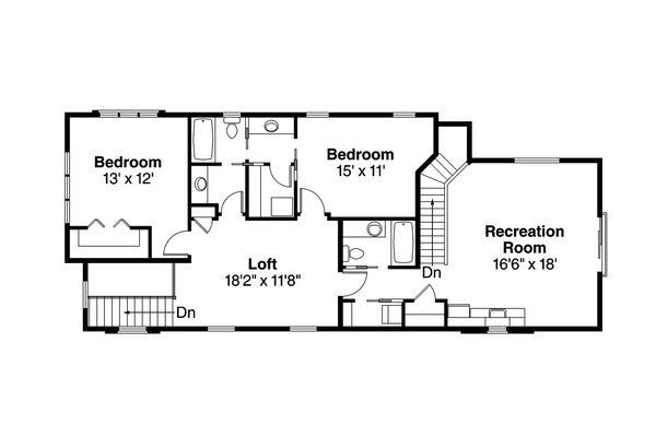 Contemporary Floor Plan - Upper Floor Plan Plan #124-1131