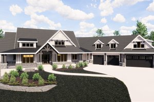 Craftsman Exterior - Front Elevation Plan #920-98