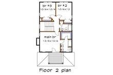 Southern Floor Plan - Upper Floor Plan Plan #79-198