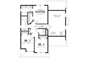 Traditional Style House Plan - 3 Beds 2.5 Baths 1500 Sq/Ft Plan #48-113 Floor Plan - Upper Floor