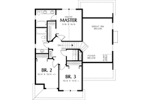 Traditional Floor Plan - Upper Floor Plan Plan #48-113