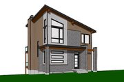 Contemporary Style House Plan - 2 Beds 1 Baths 1344 Sq/Ft Plan #23-2660 Exterior - Front Elevation