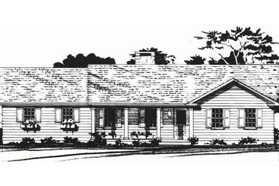 Country Exterior - Front Elevation Plan #10-121