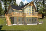 Bungalow Style House Plan - 3 Beds 2.5 Baths 3278 Sq/Ft Plan #117-541 Exterior - Front Elevation