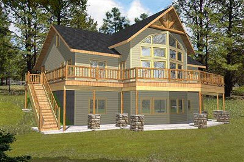 Bungalow Exterior - Front Elevation Plan #117-541 - Houseplans.com