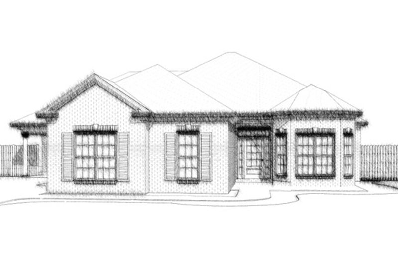 Traditional Style House Plan - 4 Beds 3 Baths 2204 Sq/Ft Plan #63-306 Exterior - Front Elevation